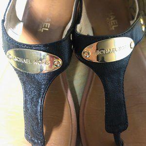 Michael Kors - Black/Brown Leather Sandals